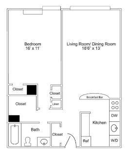 $6780 1 apartment in Center City
