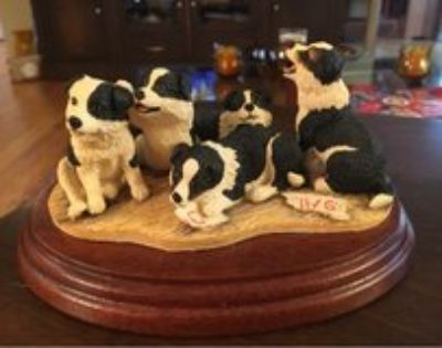 Collie Puppies Figurine