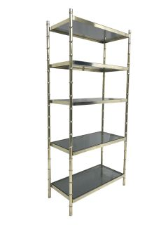 1960s Hollywood Regency Faux Bamboo Etagere
