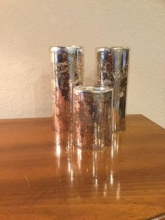 Mercury Glass (Flameless) Candle Holders Set of 3
