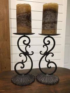 Beautiful Wrought Iron Candle Holders