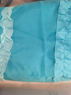 Turquoise shower curtain. Never used!