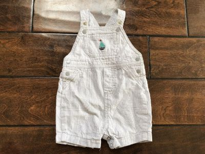 Baby Boys Carters Just One You Sailboat Pinstriped Overalls - Sz 3 mo