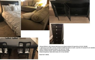 Variety of furniture in good condition at low price