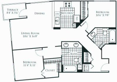 2 bedroom in Civic Center-Little Tokyo