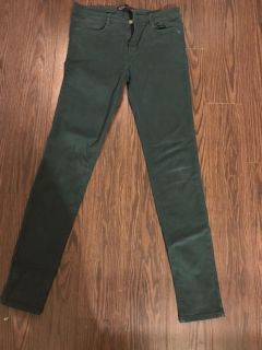 Forest green pants from Zara