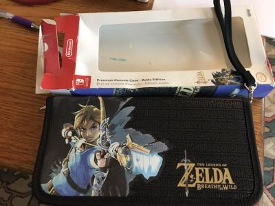 New Nintendo switch Zelda premium console case with cleaning cloth