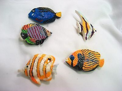 Vintage Button Covers retro tropical fish resin blow jelly clown 5 button covers snap closure Oc...
