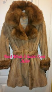 Gorgeous real mink sable fur coat