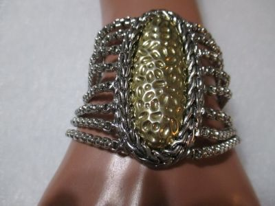 SILVER AND GOLD TONE BRACELET NWT