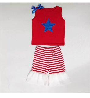 NEW Patriotic Star Girls Outfit, Size S (4-6)
