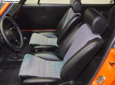Porsche 911/912 S Seat Leatherette - Houndstooth