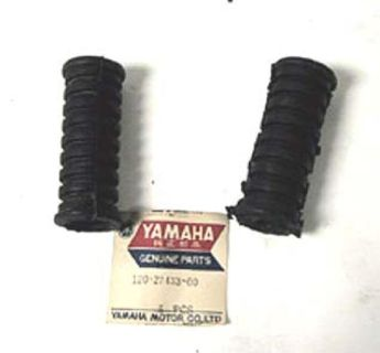 Purchase YAMAHA RD400 YCS1 AS2C RD125 YG5T G6S HS1 HT1 Footrest Cover Set NOS NEW OEM motorcycle in Estacada, Oregon, US, for US $19.95