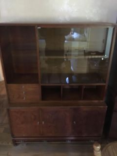 Must go! Antique kitchen china cabinet