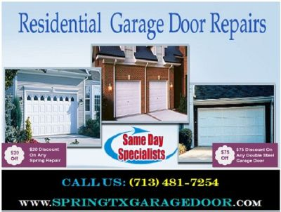 Commercial Garage Door Spring Repair | Starting $26.95 | Spring, TX
