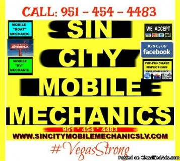 MOBILE MECHANIC - SERVICE & REPAIR WHEREVER YOUR VEHICLE IS! YES! WE COME TO YOU! AUTOS-BOATS-RV'S