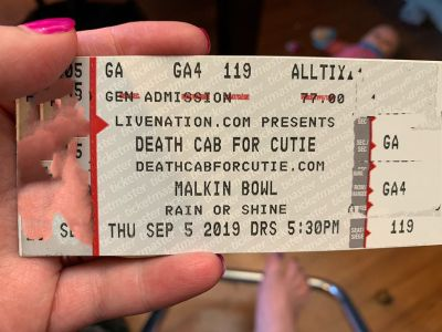 2 Death Cab For Cutie Tickets