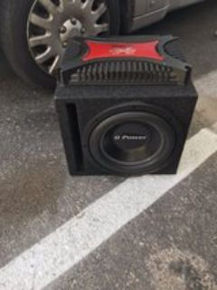 Q Power 12 subwoofer with 1200 wattage amp