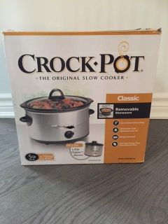 Stainless Steel Crock Pot with gravy warmer