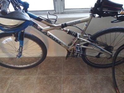 A serious mountain bike; its a Marin.