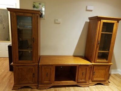 Real wood Entertainment center