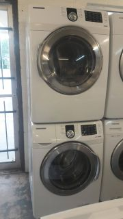 Nice set of Samsung front loads steam washer and steam dryer
