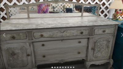 Custom Chalk Painted Antique Buffet/Sideboard