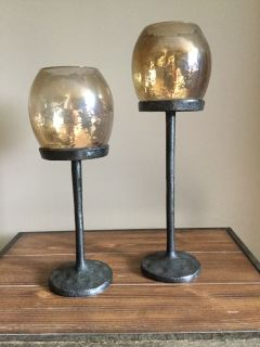 Set of two decorative candle holder