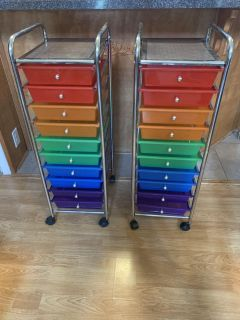 Storage cart with drawers