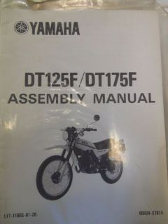 Buy Yamaha DT125F / DT175F Assembly Manual motorcycle in Richlandtown, Pennsylvania, United States, for US $24.99