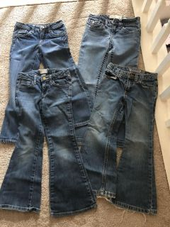 Girls jeans size 6 (4pair)