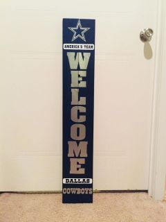 Dallas Cowboys Pallet Wood Welcome Sign