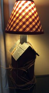 Burgundy and black table lamp