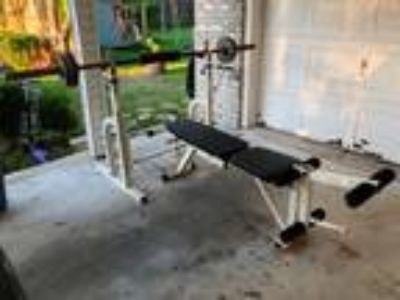 Olympic Weight Bench, Olympic Bar and Weights
