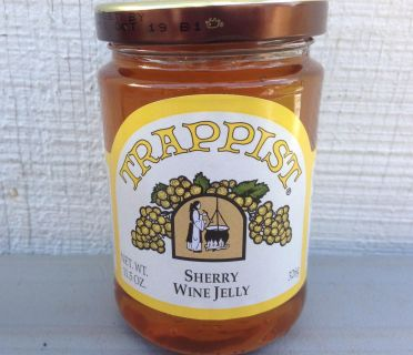 SHERRY WINE JELLY made by TRAPPIST MONKS at St. Joseph s Abbey, MA. - 12 Oz. Jar