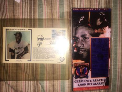 Mint Roberto Clemente Commemorative Tickets w/ A Tribute RARE envelope only 300 made)
