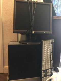 Monitor, keyboard, and cpu--Hard drive is removed