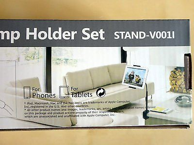 Brand New Vivo 360 rotating universal clamp holder set for ipad iphone &most tablets