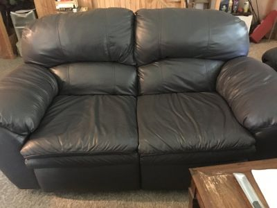 Leather couch and loveseat to match