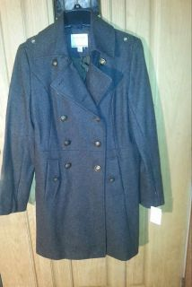 Brand new women's nautical Heather brown coat never worn still has tags excellent condition size medium super cute more pics in boxes