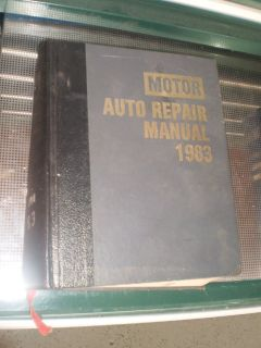 SHOP MANUAL SERVICE REPAIR BOOK MOTOR AUTO 1983 CAR RARE OLD 83