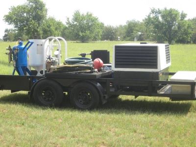 MOBILE SODA BLASTING  SAND BLASTING RIG FOR SALE