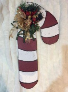 Wood handpainted Candy Cane
