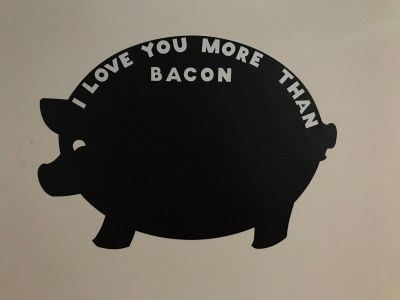 Pig chalkboard sticker