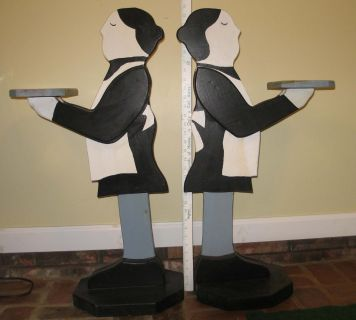 Wooden Butler Stand and Maid Stand- For the Pair
