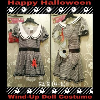 WIND-UP DOLL COSTUME SIZE S (4-6)