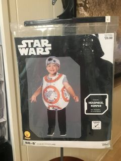 New! BB-8 Star Wars Toddler Costume - Sz 2-3 (2 available)