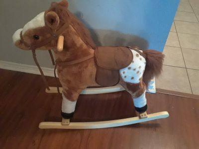Stuffed rocking horse