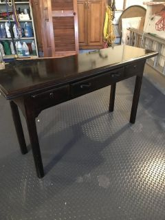 Hall table converts to dining table