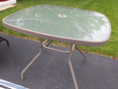Beige patio table